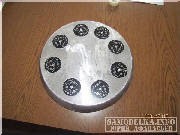 Самодельный светильник из алюминиевой сковороды