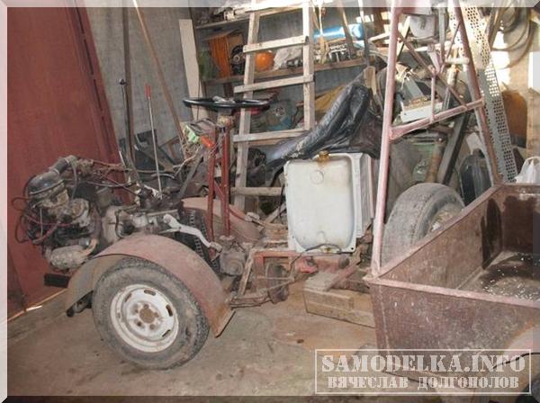 самодельный мини-трактор