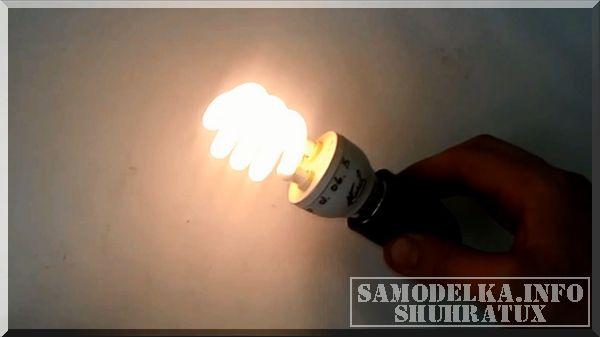 Ремонт энергосберегающей лампы своими руками