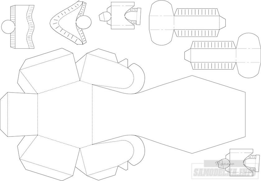 Сделать макет танка из бумаги своими руками 79