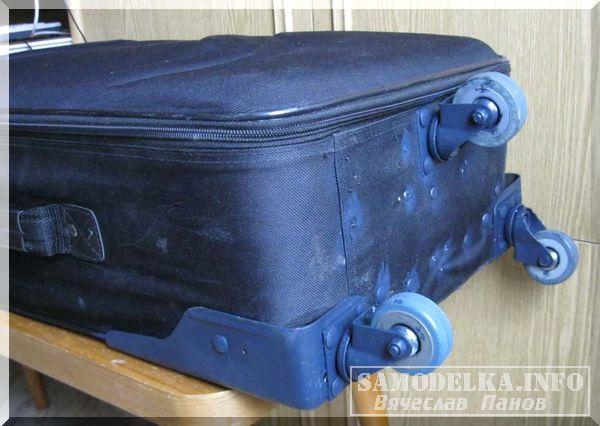 Ремонт колеса чемодана своими руками