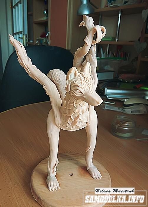 семаргл из полимерной глины мастер класс