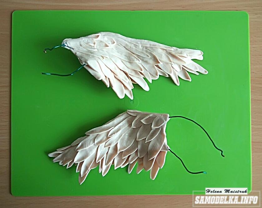 крыло из полимерной глины