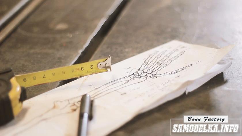 эскиз рукоятки молотка