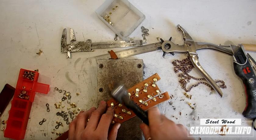 изготовление браслета из кожи своими руками