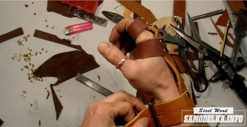 заготовка перчатки из кожи