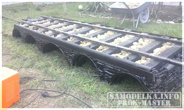 мост для мангал паровоза
