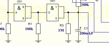 схема принципиальная сигнализации на микросхемах