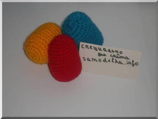Самоделка: Пасхальные яйца вязанные крючком