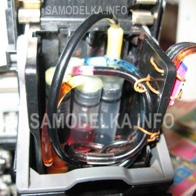 расположение шланг внутри ПГ canon i250- ip1000-ip1500