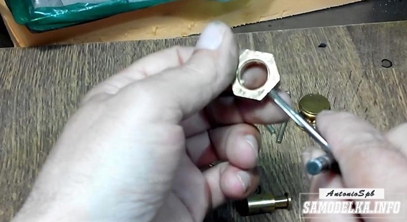процесс изготовления самодельного спиннера