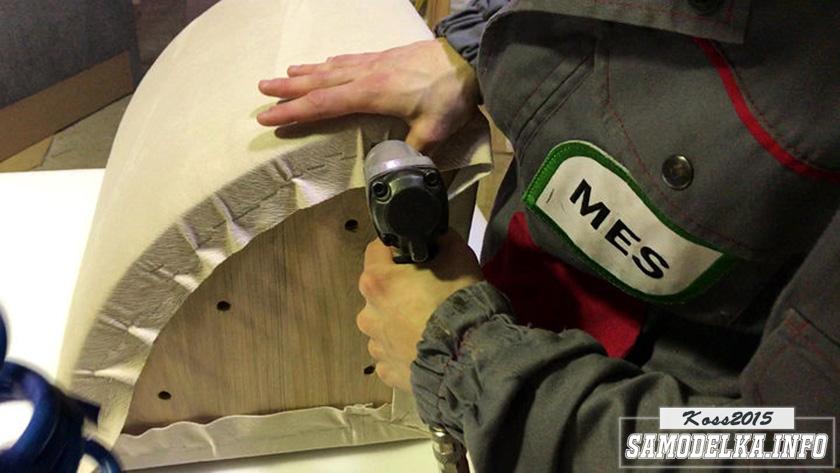 изготовление пуфа полукруглой формы
