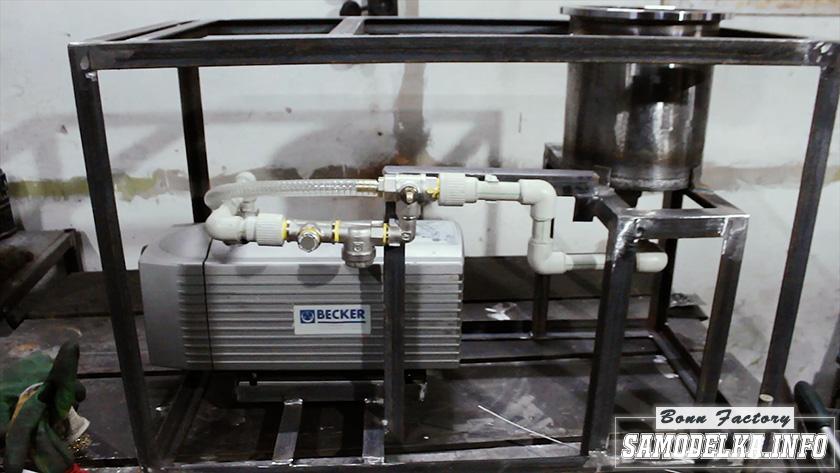 Литейная вакуумная машина с вибростоликом своими руками