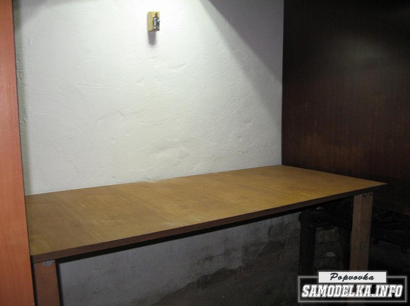 Сделай сам: компактный стол в мастерскую