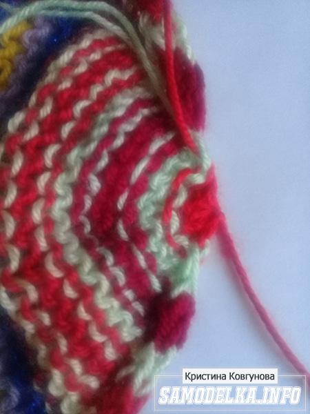 Процесс вязания пинеток спицами мастер класс
