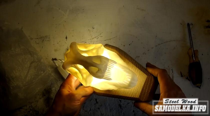 Светильник Юрского периода с помощью 3D печати