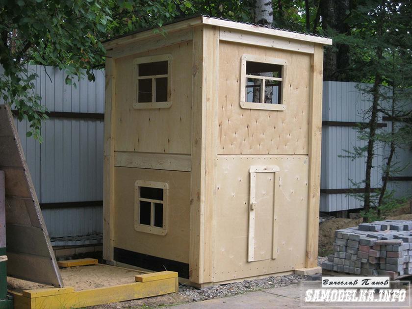 Двухэтажный детский домик для внука