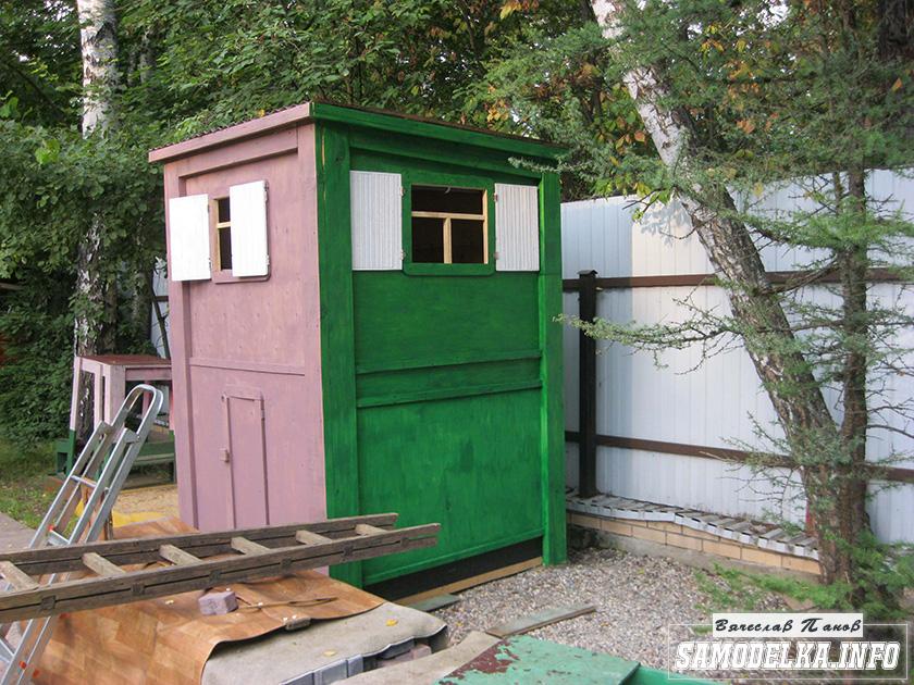 Двухэтажный детский домик для внука своими руками