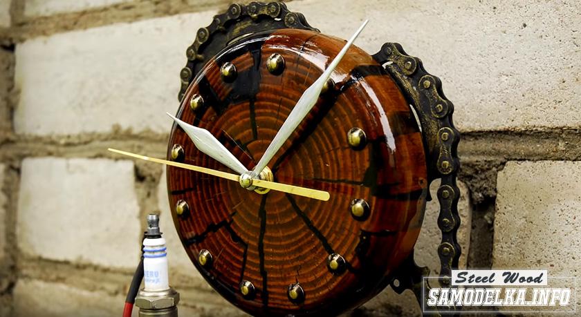 Настольные часы из хлама своими руками