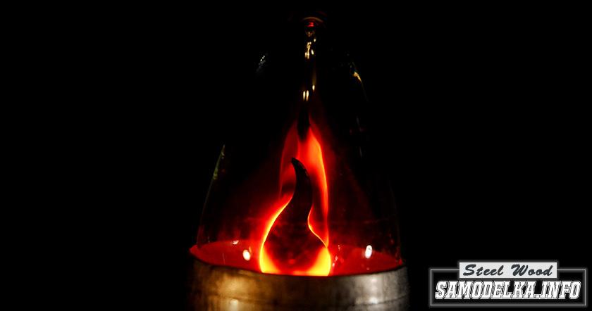 Настольная лампа из пластмассовой трубы