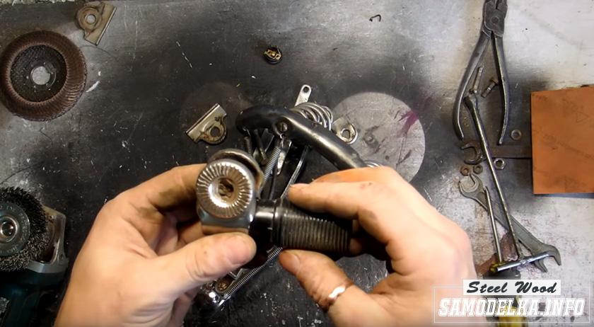 Процесс изготовления светильника из старого велосипедного седла своими руками