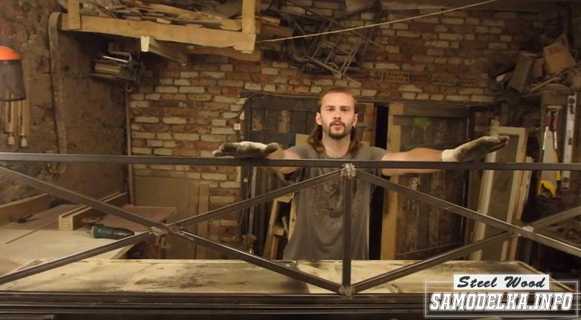 Процесс изготовления стеллажа