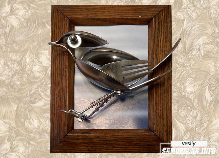 Птичка из металлолома своими руками